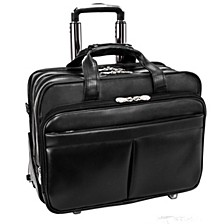 "Roosevelt 17"" Patented Detachable -Wheeled Laptop Briefcase"
