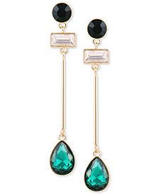 GUESS Crystal & Stone Linear Drop Earrings