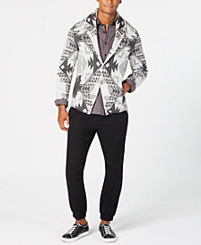 American Rag Men's Folklore Cardigan, Woven Shirt & Moto Jogger Pants, Created for Macy's
