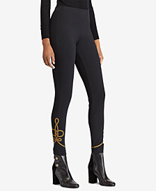 Polo Ralph Lauren Bullion-Trim Skinny Pants