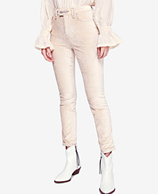 Free People Sweet Jane Velvet Skinny Jeans