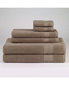 Turkish Spa Cotton 6-Pc. Solid Towel Set