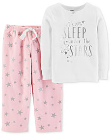 Carter's Toddler Girls 2-Pc. Star-Print Pajamas Set