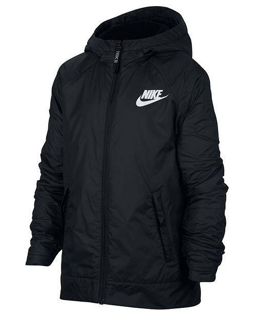 Nike Big Boys Sportswear Fleece Hooded Jacket & Reviews