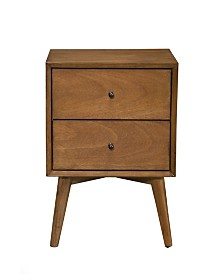 Two-Drawer Accent Table, Acorn Finish