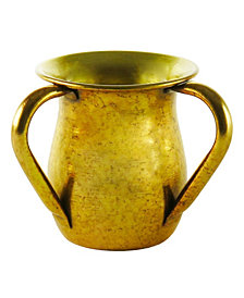 Classic Touch Mundane Gold Plated Wash Cup
