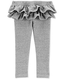 Carter's Toddler Girls Ruffle-Trim French Terry Leggings