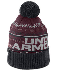 Uner Armour Men's Logo Pom Pom Beanie