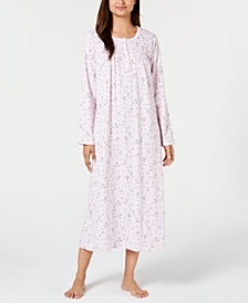 Charter Club Printed Long Cotton Nightgown, Created for Macy's