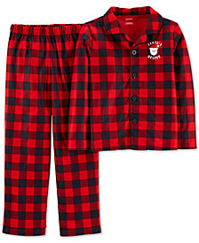 Cater's Little & Big Boys Red Buffalo Check Pajamas