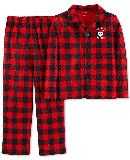 ddff33120707 Carter s Cater s Little   Big Boys Red Buffalo Check Pajamas ...