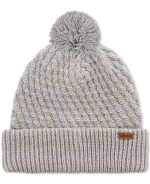 Adidas Originals Adidas Twilight Metallic Pom Pom Beanie In Heather  Grey Rose Gold Lurex 1de87918a18