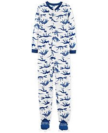 Carter's Little & Big Boy 1-Pc. Dino Skeleton Fleece Pajamas