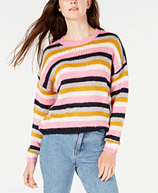 Hooked Up by IOT Juniors' Striped Sweater