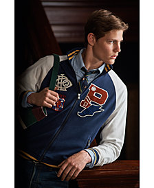 Polo Ralph Lauren Men's Cotton Patch Varsity Track Jacket