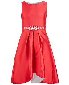 Us Angels Big Girls High-Low Hem Satin Dress
