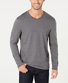 Men's V-Neck Long Sleeve T-Shirt, Created for Macy's