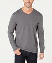 cdb9fe8acfa Club Room Men s V-Neck Long Sleeve T-Shirt