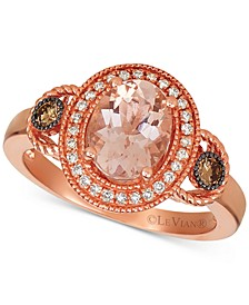 Morganite (1 1/3 ct.t.w.) and Diamond (1/4 ct.t.w.) Ring in 14K Rose Gold