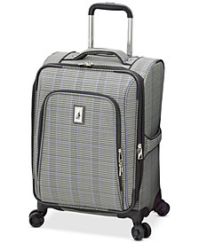 "London Fog Knightsbridge II 20"" Expandable Carry-On Spinner Suitcase"