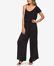 Roxy Juniors' One-Shoulder Popover Jumpsuit
