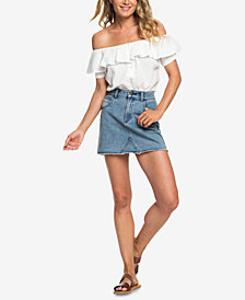 Roxy Juniors' Java To Lombock Denim Skirt