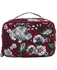 Vera Bradley Iconic Small Blush & Brush Case