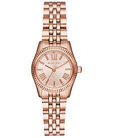 Michael Kors Women's Lexington Rose Gold-Tone Stainless Steel Bracelet Watch 26mm