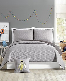 Urban Playground Coty Grey Full/Queen Quilt Set - 3 Piece