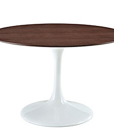 "Lippa 48"" Round Walnut Dining Table"