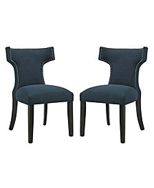 Modway Curve Dining Side Chair Fabric Set of 2