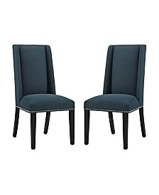 Modway Baron Dining Chair Fabric Set of 2