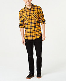 American Rag Men's Charlie Plaid Woven Shirt & Shadow Jeans Separates, Created for Macy's