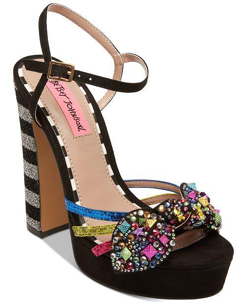 f6c910f20fbb Betsey Johnson Tobie Embellished Platform Sandals   Reviews ...