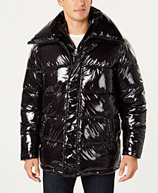 I.N.C. Men's Glossy Oversized Puffer Coat, Created for Macy's