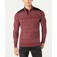 Deals on I.N.C. Mens Mineral Striped Sweater