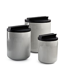 CLOSEOUT! Modern Porcelain Canister Set with Black Wood Lids, Created for Macy's