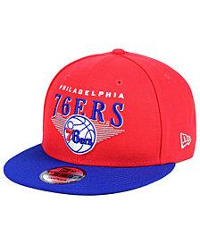 New Era Philadelphia 76ers Retro Triangle 9FIFTY Snapback Cap