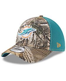 New Era Miami Dolphins Realtree Camo Team Color Neo 39THIRTY Cap