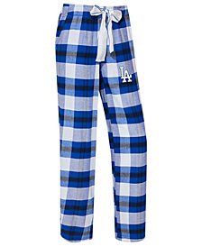 College Concepts Women's Los Angeles Dodgers Headway Flannel Pajama Pants