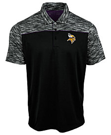 Authentic NFL Apparel Men's Minnesota Vikings Final Play Polo