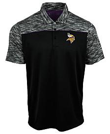 Authentic NFL Apparel Men's Minnesota Vikings Final Play Polo