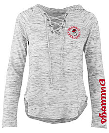 Pressbox Women's Georgia Bulldogs Spacedye Lace Up Long Sleeve T-Shirt