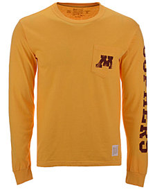 Retro Brand Men's Minnesota Golden Gophers Heavy Weight Long Sleeve Pocket T-Shirt