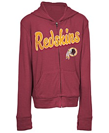 Washington Redskins Sweater Full-Zip Hoodie, Girls (4-16)