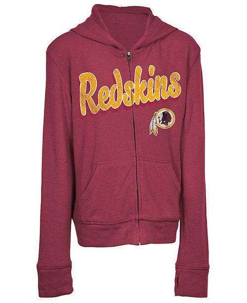 5th & Ocean Washington Redskins Sweater Full-Zip Hoodie, Girls (4-16)