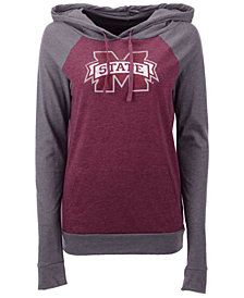 5th & Ocean Women's Mississippi State Bulldogs Big Logo Raglan Hooded Sweatshirt