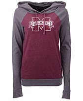 3242b827bb3 5th   Ocean Women s Mississippi State Bulldogs Big Logo Raglan Hooded  Sweatshirt