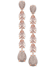 Swarovski Crystal & Pavé Linear Drop Earrings