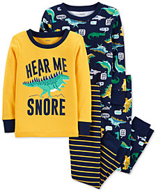 Carter's Toddler Boys 4-Pc. Dino-Print Cotton Pajamas Set